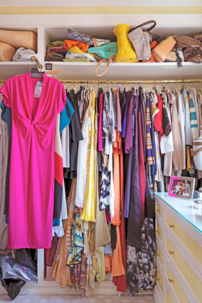 Gayle's Closet Before