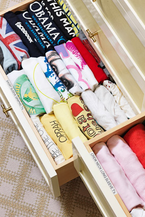 Tshirt drawers