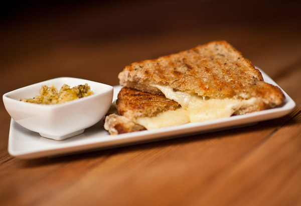 Griddled Fondue Sandwich with Pickled Pepper Relish