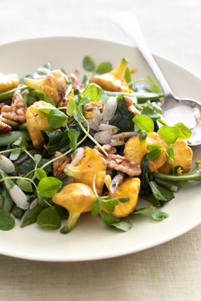 Sauteed Ramps, Sugar Snap Peas and Pattypan Squash