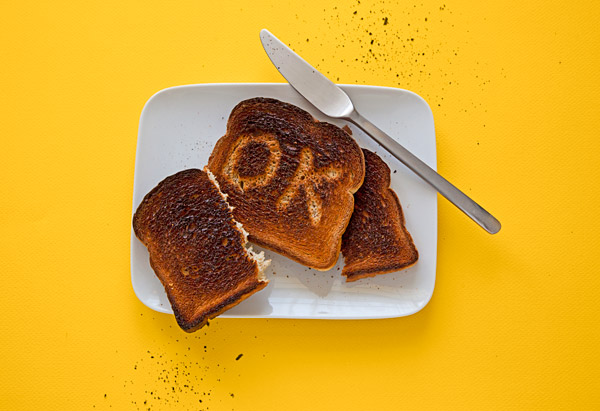 Burnt toast is OK