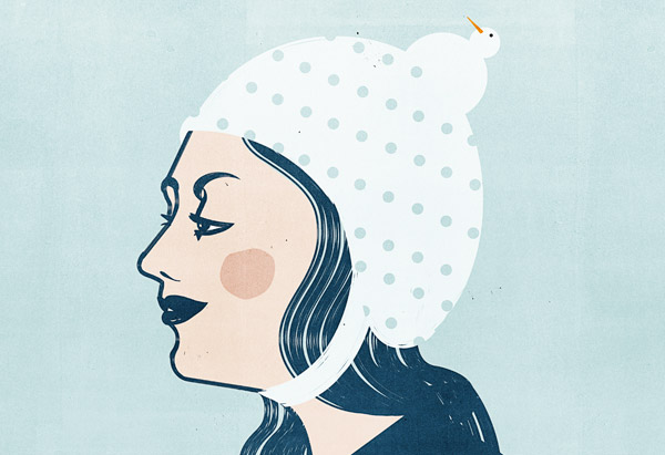 Penguin Cap Hat Illustration