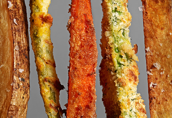 Baked veggie fries