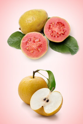 Guava and asian pear