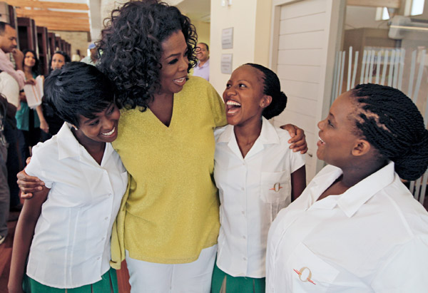 Oprah and Students