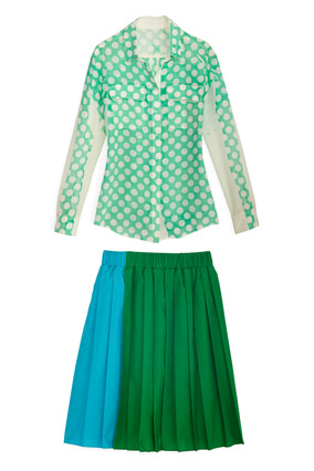 joe fresh blouse and skirt