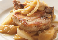 Skillet Pork Chops with Apples Recipe