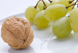 grape-nut halves