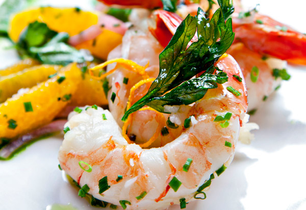 Pickled Shrimp with Parsley Oil