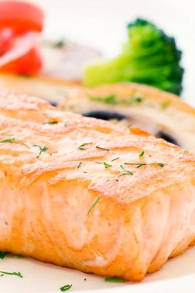 Microwave salmon dish