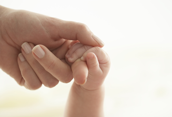 baby and mother's hands
