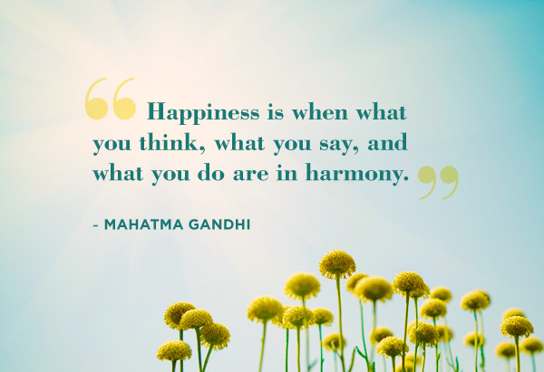 gandhi quotes happiness