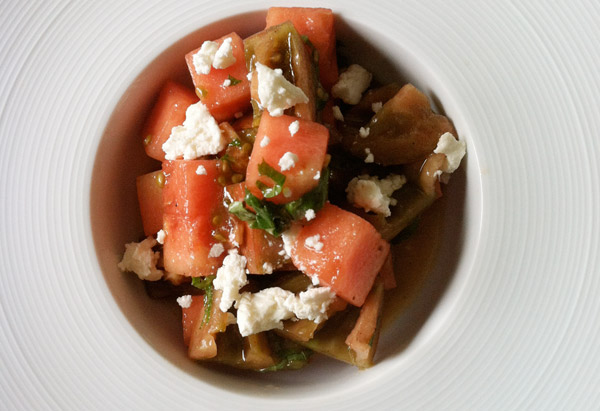 Watermelon-Heirloom Tomato Salad