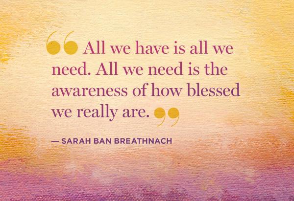 Sarah Ban Breathnach quote