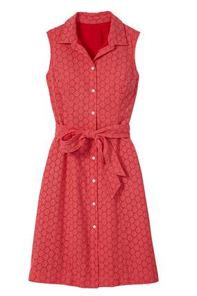 Allover eyelet dress