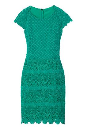 Lace motif dress