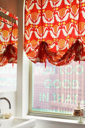 Janet Lee's bathroom decor - window cling