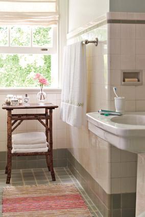 Suzanne and Lauren McGrath's bathroom design