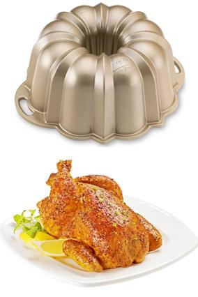 Chicken in a Bundt pan