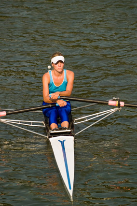 Woman rowing