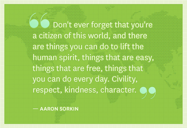 Aaron Sorkin quote