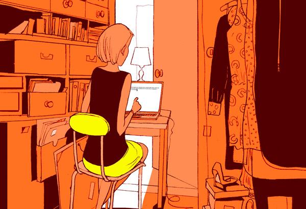 writing in closet