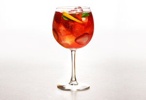 Strawberry-Basil Rose Sangria
