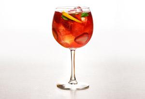Strawberry-Basil Rose Sangria