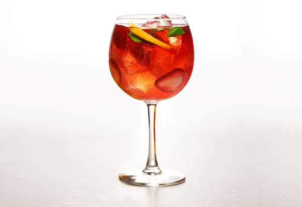 Strawberry-basil sangria