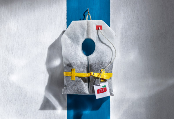 Tea bag life jacket