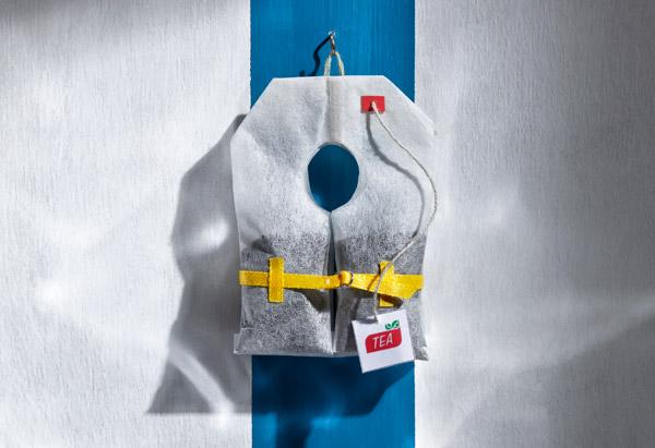 Tea bag life jacket