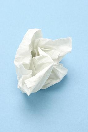 Crumpled up tissue