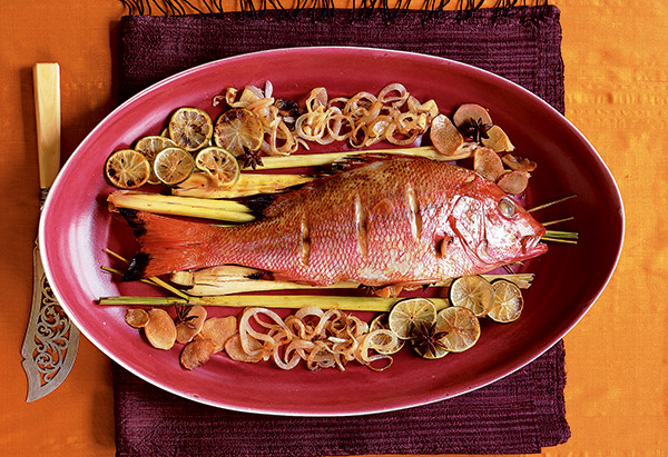Spicy Grilled Snapper with Lemongrass and Ginger