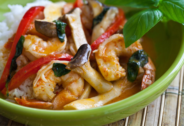 Thai Shrimp Curry and Rice Recipe
