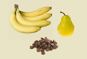 Banana-Pear Pudding with Chocolate Chips