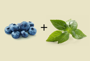 blueberry and basil