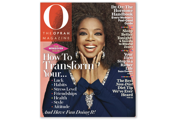 Oprah on the September 2012 cover of O Magazine