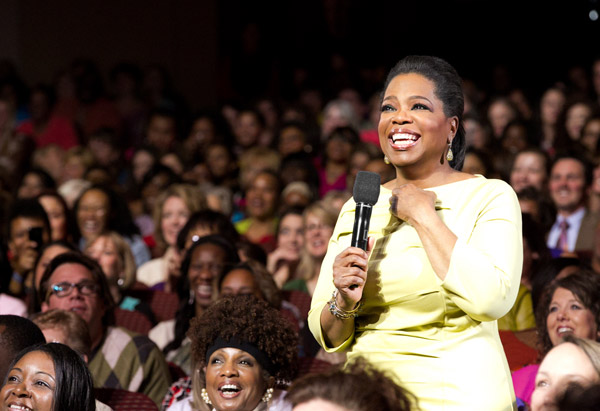 Oprah Winfrey in the audience