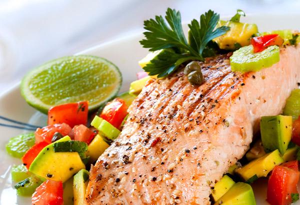 Salmon and salsa