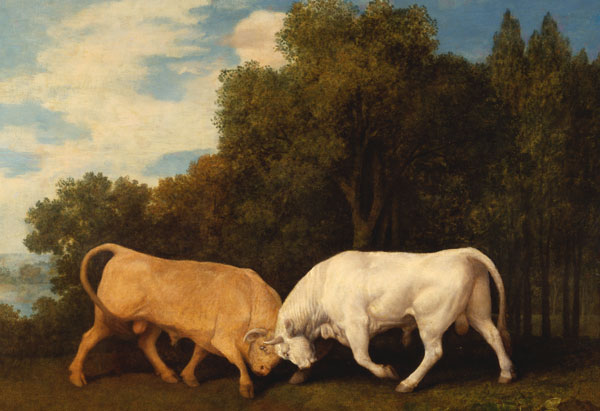 Bulls Fighting by George Stubbs