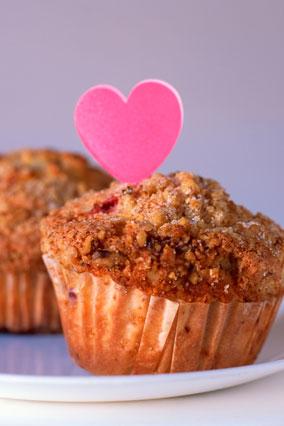Heart muffins