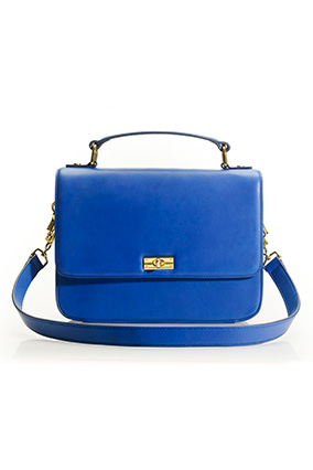 J.Crew blue leather purse