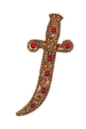 Dagger brooch