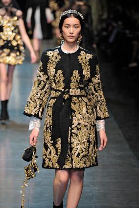 Dolce & Gabbana baroque runway look