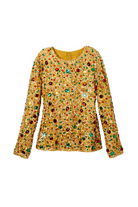 Gold jeweled top