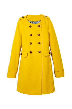 Yellow double-breasted coat