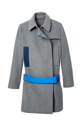Gray graphic coat