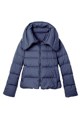 Navy puffy coat