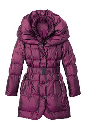 Purple puffy coat
