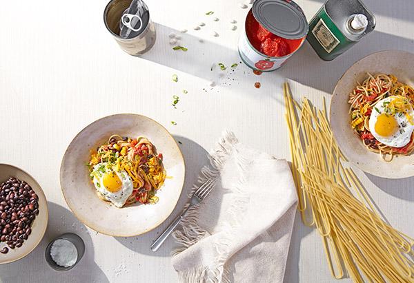 Huevos Rancheros Spaghetti